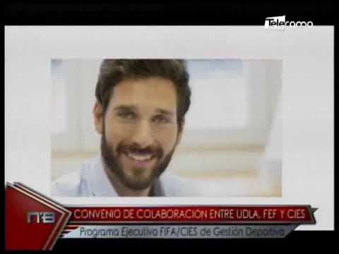 Convenio de colaboración entre UDLA, FEF y CIES programa ejecutivo FIFA/CIES de gestión deportiva