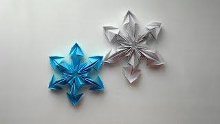 Снежинки из бумаги. Оригами снежинка на Новый год 2018