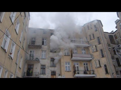Pożar na Mickiewicza (Bydgoskie Przedmieście, Toruń) / 21.01.2014