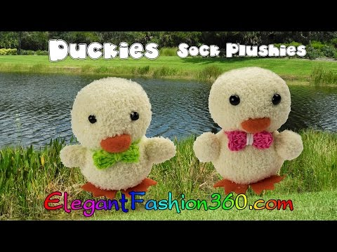DIY Kawaii Ducky/Chick Sock Plushie/Sock Stuffed Animal/Easter - How to by Elegant Fashion 360