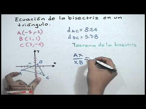 Gleichung der Winkelhalbierenden in einem Dreieck