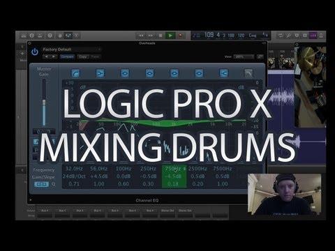 Logic Pro X - Mixing Acoustic Drums - Tutorial - Logic Pro 10