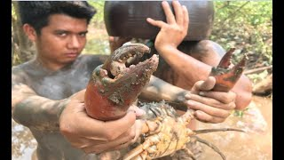 Video Primitive Technology with Survival Skills giant crab traps, looking for food MP3, 3GP, MP4, WEBM, AVI, FLV September 2018