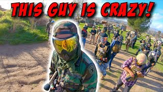 CRAZY AIRSOFT DUDE gets LIT UP by EVERYONE! (Maximum Pain)
