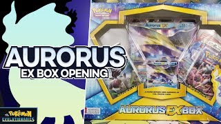 Hello Pokemon Fans! Today we open up an AWESOME Aurorus EX box of Pokemon cards! We did really well on this one! This box comes with a jumbo and promo card of Aurorus EX as well as 4 packs of Pokemon cards too!Official shirts and apparel!http://shrsl.com/?ekamCheck out http://www.ccgcastle.com for great prices on all your Pokemon TCG needs!Support us with Amazon!We get a small kickback from ANYTHING you buy, and it costs you nothing extra: https://www.amazon.com/?tag=thepokem-20Become a patron or donate to support more awesome content!Patreon: https://www.patreon.com/PokemonEvolutionaries Donations: http://paypal.me/PkmnEvolutionariesBIG SHOUT OUT TO OUR $10+ PATREON SUPPORTERS!$20- LazbreathFOLLOW THE TEAM CCG CASTLE MEMBERS:Ryan Sabelhaus: https://twitter.com/Sabelhaus_TCGRahul Reddy: https://twitter.com/thefleeeeJimmy Pendarvis: https://twitter.com/Ginge_TCGIgor Costa: https://twitter.com/IgorDolbethAzul Griego: https://twitter.com/Azul_GGSubscribe for more Pokémon TCG content! - http://www.youtube.com/user/pkmnevolutionaries?sub_confirmation=1 Want to stay up to date? Follow us on social media!Twitter: https://twitter.com/ThePokemonEvos Twitch: https://www.twitch.tv/thepokemonevolutionaries Website: http://www.pokemonevolutionaries.comWant to send us fan mail?The Pokémon EvolutionariesPO Box 15194Brooksville FL 34604If you enjoy Yu-Gi-Oh check out our second channel, Magician's Descendant!https://www.youtube.com/c/magiciansdescendant94 For questions and/or inquiries of any kind, feel free to reach out to us!The Pokémon EvolutionariesGeneral Contact/Trade InquiriesContact@PokemonEvolutionaries.com Kevin KrustExecutive Producer/ManagerKKrust@PokemonEvolutionaries.com Intro/outro music provided by A Cloud Called Klaus!Twitter: https://twitter.com/CloudKlaus YouTube: https://www.youtube.com/c/acloudcalledklaus Special thanks to the following channels for providing the music used in our videos!GlitchXCityTwitter: https://twitter.com/GlitchxCity YouTube: http://www.yo