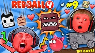 RED BALL 4: INTO THE CAVES GIRLFRIEND FALLS! FGTEEV #9 w/ Chase Dad Mom Shawn (Volume 5 Level 61-69)