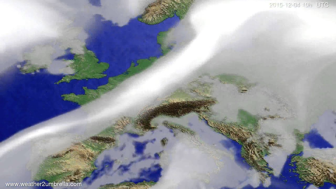 Cloud forecast Europe 2015-12-02