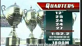 2012 PHILRACOM 2nd Leg Triple Crown Stakes Race won by HAGDANG BATO