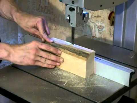 sierra de sinta sin fin - Ejemplo de corte con la sierra LB1200F de Makita.