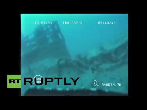 Descubren submarino ruso en el fondo del mar Negro