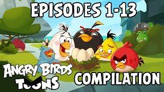 Angry Birds Toons Compilation | Season 1 Mashup | Ep1-13