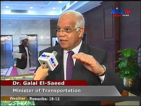 لقاء خاص مع وزير النقل على هامش افتتاح تطوير ميناء سفاجا