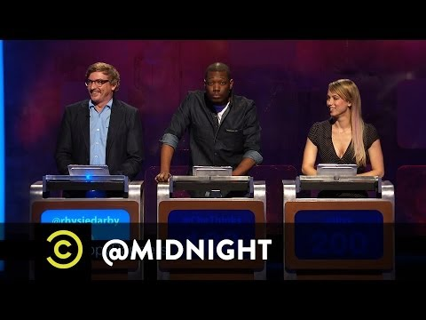 Midnight - To celebrate Eminem's new album, Rhys Darby, Michael Che and Iliza Shlesinger come up with poop-themed rapper names. For more @midnight with Chris Hardwick (...