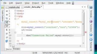 Php Tutorials-18-creating Database In Mysql Using Php Script - Www.vdesignourweb.com