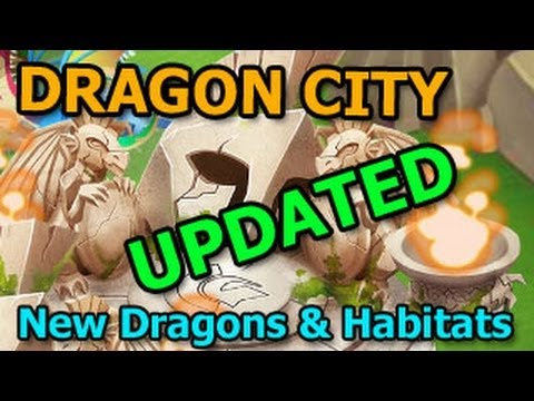 Dragon City Major Update for the Game New Habitats and New Dragons
