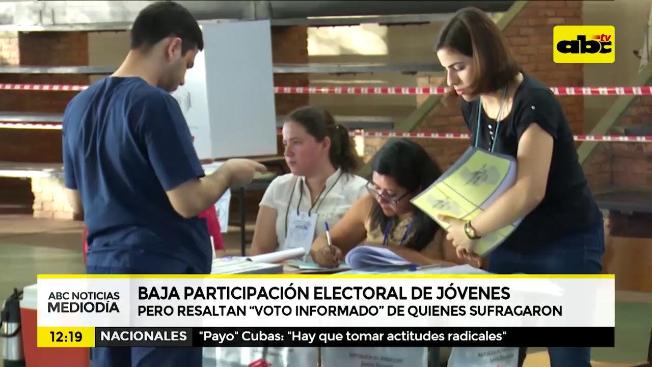 Participación electoral de jóvenes fue de apenas 14%