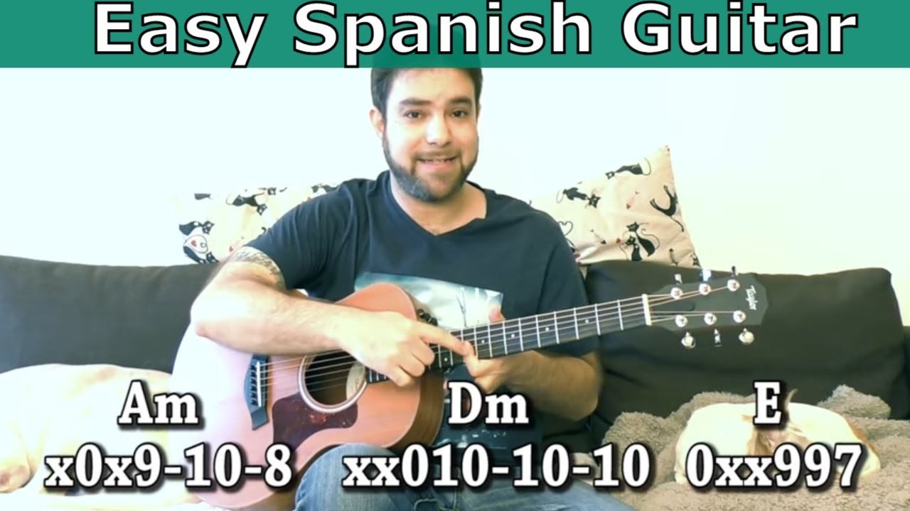 Lesson: Easy Spanish-Style Music – Without Knowing Scales!  (Guitar Tutorial w/ TAB)