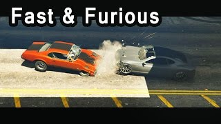 Nonton GTA V - Fast and Furious 7 Dom vs Shaw [Cemetery chase] Film Subtitle Indonesia Streaming Movie Download
