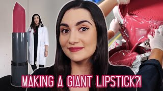 We Made The World's Largest Lipstick