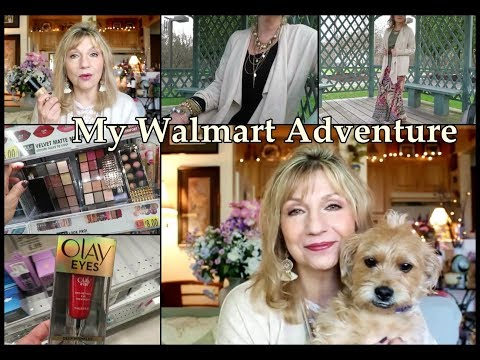 My First Time Shopping at Walmart -Skincare, Makeup and Clothes - Mature Women