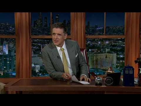 Late Late Show with Craig Ferguson 1/14/2013 Jenna Elfman, Guillermo del Toro