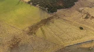 Practice trenches at Acreknowe reservoir