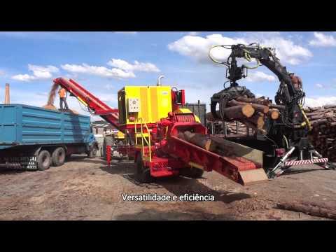 Picador Florestal de Madeira PTML 240/320x600 - versatilidade e eficiência na produção de cavacos