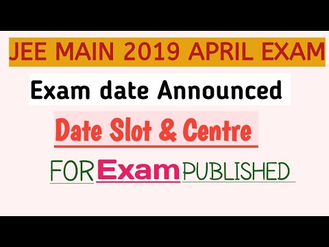 JEE Main 2019 April exam dates released; download admit card