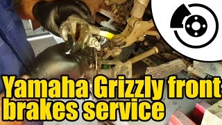 10. #1317 - Yamaha Grizzly 450 - front brakes service