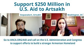 Live from Stepanakert: ANCA discusses the need for $250 million in U.S. aid to Artsakh.