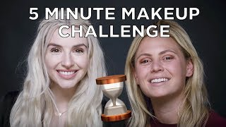5 minute makeup challenge with Jen & Deanna!