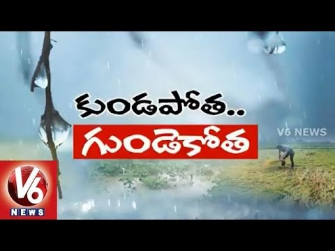 Telangana farmers in concern with crop loss due to unseasonal rains  V6 Spot Light 14042015