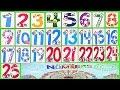 Learn Numbers Kids Count 1,2,3,4,5,6,7,8,9,10,11,12,13,14,15,16,17,18,19,20,21,22,23,24,25 Preschool
