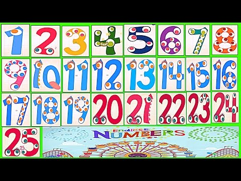 Learn Numbers Kids Count 1,2,3,4,5,6,7,8,9,10,11,12,13,14,15,16,17,18,19,20,21,22,23,24,25 Preschool