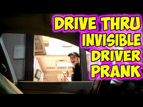 Going Viral: Drive Thru Invisible Driver Prank