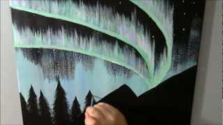 Alaska Northern Lights Speed Painting Time Lapse