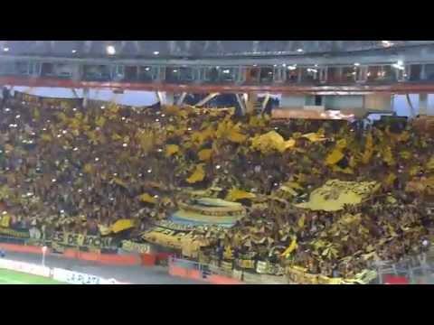 Salida de Peñarol contra Estudiantes - Barra Amsterdam - Peñarol