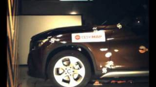 Crash test delantero BMW X1 en Cesvimap