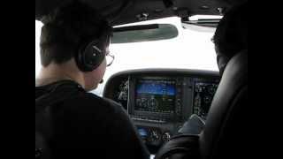 Cirrus SR22T OK-VIK Cockpit View Near Nymburk