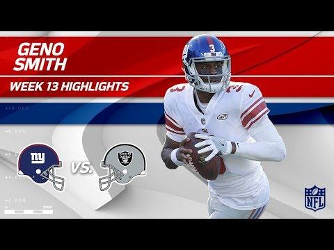 Video: Geno Smith Highlights | Giants vs. Raiders | Wk 13 Player Highlights