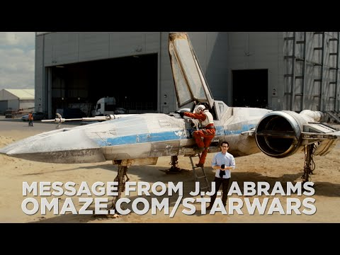 J.J. Abrams Reveals X Wing Fighter in Star Wars: Episode VII Set Video