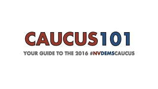 Adjacent to a fern, the NV Dems Caucus training team gives a brief overview of how the caucus works in Nevada.