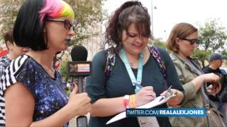 Infowars reporter Millie Weaver, aka 'Rainbow Snatch', hits the streets in Austin, Texas during SXSW festivities to see if leftists would sign a petition in favor ...