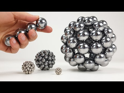 Playing with Big Magnet Balls   Magnetic Games