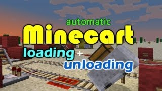 Minecraft Minecart Loading and Unloading Tutorial