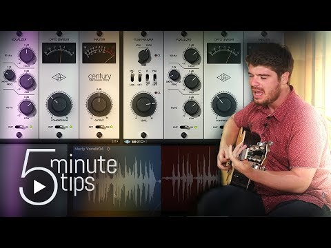 5-Min UAD Tips: Recording Acoustic Guitar & Vocals with Century Tube Channel Strip (видео)