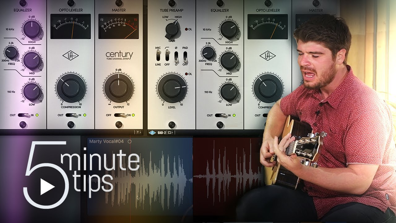 5-Min UAD Tips: Recording Acoustic Guitar & Vocals with Century Tube Channel Strip