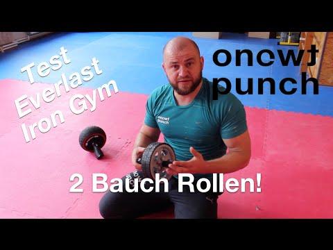 Test gescheitert 2 Bauchtrainer Everlast / Iron Gym Speed Abs / Bauchmuskel Übungen One Two Punch