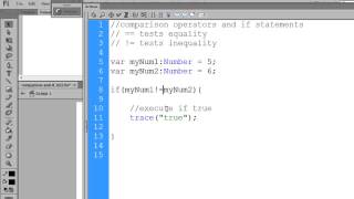 Flash CS6 Actionscript for Beginners - If statements