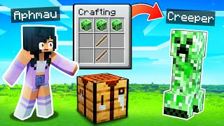 Minecraft But CRAFTING Spawns MONSTERS!